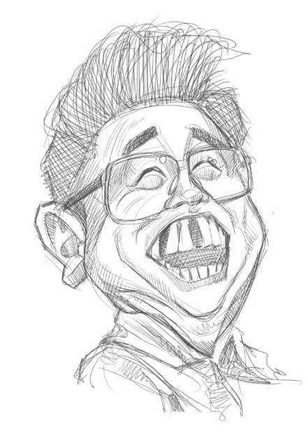 digital caricature sketch of Dictador comunista - 2 small