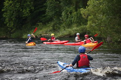 kayak tour of the Spey and Whisky in Creagallachie