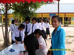 เลือกตั้งประธานนักเรียน โรงเรียนศรีแสงธรรม เลขที่ 212 หมู่ที่5 บ้านดงดิบ ตำบลห้วยยาง อำเภอโขงเจียม จังหวัดอุบลราชธานี 34220