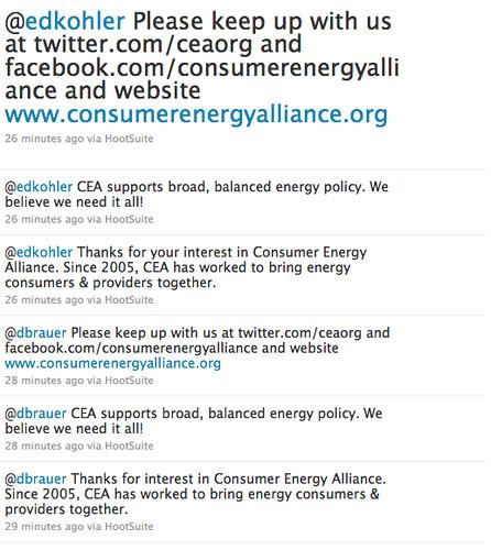 Consumer Energy Alliance on Twitter