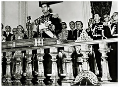 H.M. The Shah Gives A Speech (Tulipe Noire) Tags: iran persia kind 1950s tehran reza speech mohamed shah pahlavi