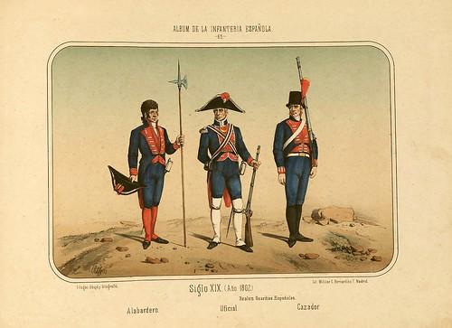 012- Álbum de la Infantería Española..-1861- conde de Clonard