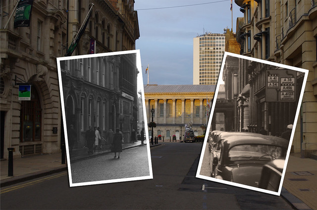 Colmore Row towards Town Hall 1962-2010
