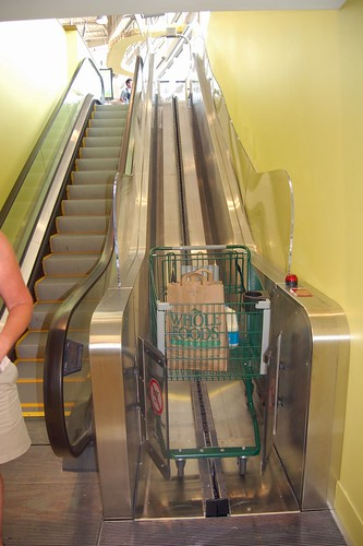 the crazy escalators at the new Whole Foods in Dallas