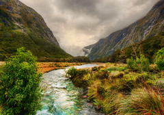 River to the Maelstrom (Stuck in Customs) Tags: new travel trees newzealand wild sky mountains southwest water mystery digital river island photography march blog high dynamic stuck natural pacific hiking south scenic overcast hike unescoworldheritagesite photoblog zealand valley software sound processing fjord imaging milford wilderness range aotearoa hdr tutorial trey travelblog customs greenstone 2010 maelstrom fiordlandnationalpark ratcliff tewaipounamu piopiotahi hdrtutorial stuckincustoms treyratcliff photographyblog stuckincustomscom tewhipounamu nikond3x