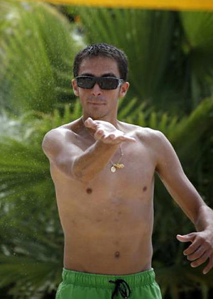 Alberto Contador shirtless