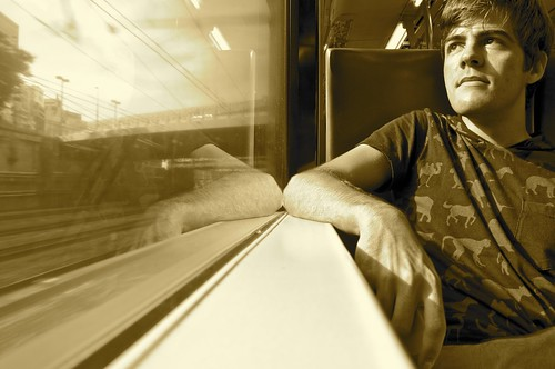 En el tren, de camino a alguna parte