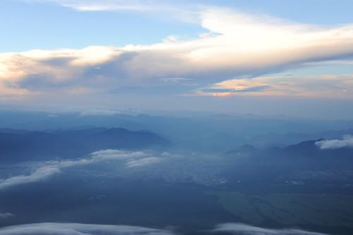 富士山八合目からの夕焼け