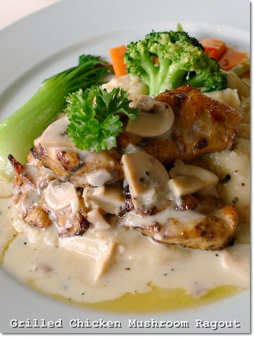 Grilled Chicken Mushroom Ragout