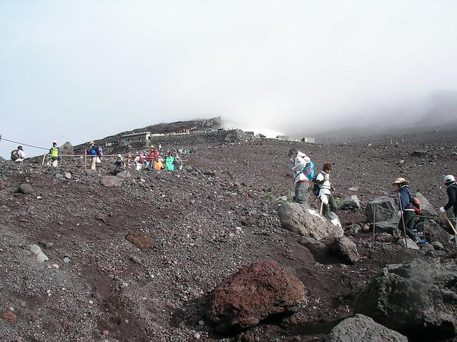 下山, 富士山登山(富士宮ルート) Climbing Mt.Fuji