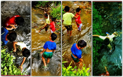kids catch fish