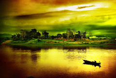 Late Night Dream (roksbox (Rokon)) Tags: cloud lake water river boat dreamy bangladesh rangamati kaptai chittagang