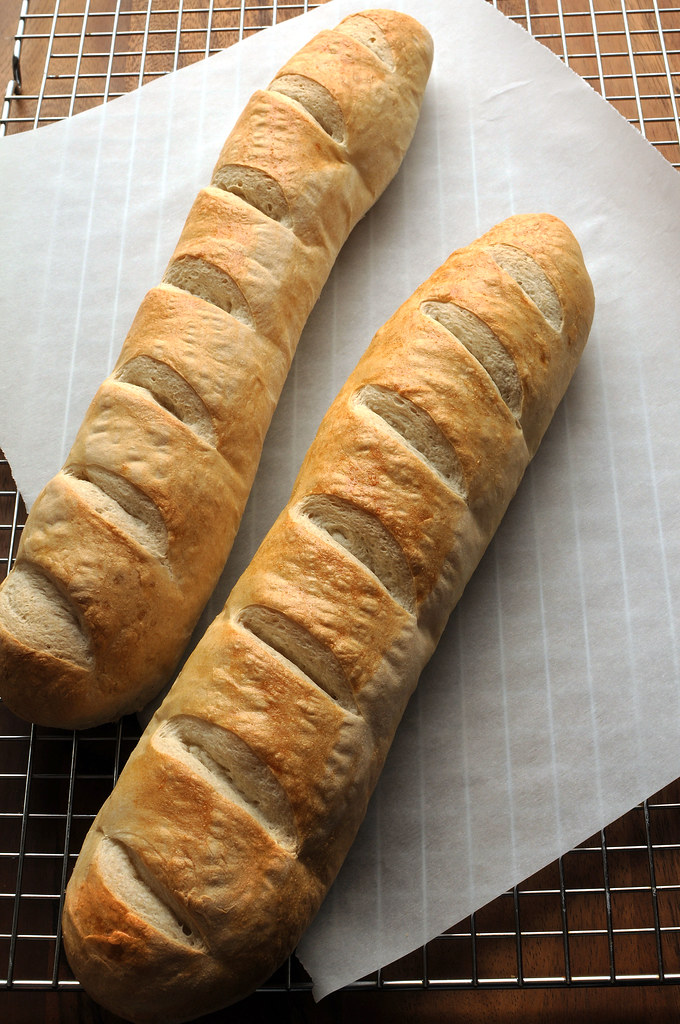 Crusty French Bread_skinny loaves tall