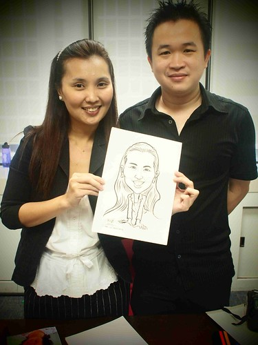 Caricature live sketching @ UOB Finance Division