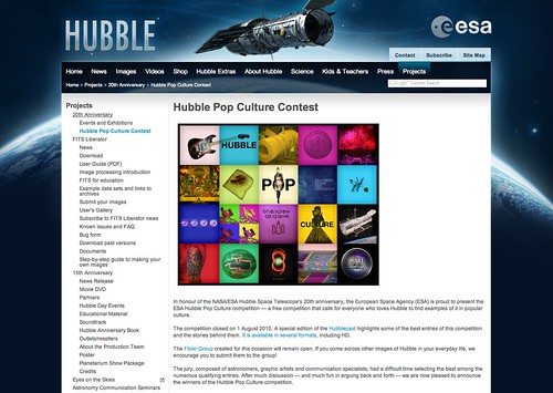 Cool Toys Pic of the day - Hubble Pop Culture Contest