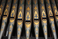 Pipes (EJ Images) Tags: uk england slr church suffolk nikon religion churches organ eastanglia pipeorgan 2010 allsaintschurch nikonslr d90 wickhammarket nikond90 wickhammarketchurch 18105mmlens organdetail ejimages