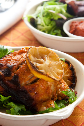 Harissa and yoghurt baked chicken