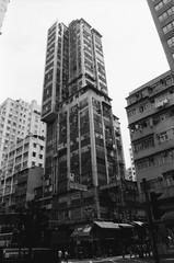 Tetris ((stephenleopold)) Tags: street hongkong 香港 rue tetris immeuble buiding ilfordfp4 chinoncm4 objo28mm