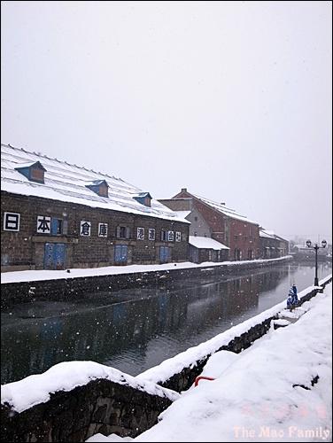 北海道冬天的小樽運河