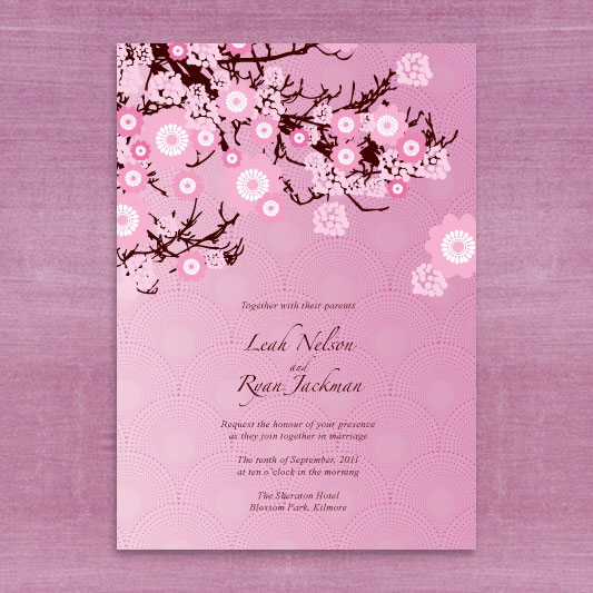sweet sakura invitation