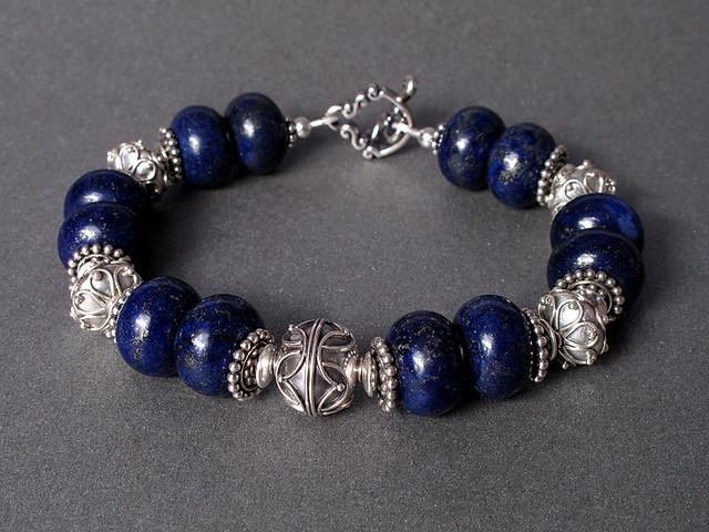 art silver design handmade craft jewelry bracelet accessories sterling gem lapis gemstone lazuli