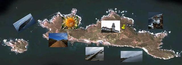 Illas de Ons e Onza con fotografías