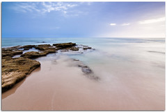 (Antonio Carrillo (Ancalop)) Tags: light sunset sea summer vacation sky espaa seascape color art beach nature canon geotagged atardecer coast mar spain rocks europe trafalgar playa andalucia tokina filter verano cadiz cokin nd8 gnd8 ancalop