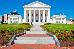 Virginia Capitol Building (Ty Johnson Photography) Tags: usa white building architecture stairs photography virginia nikon state symmetry richmond historic capitol staircase 1855mm rva d90