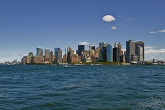 NYC - Manhattan Skyline (GlobeTrotter 2000) Tags: new york city nyc cruise summer usa apple skyline river circle big cityscape manhattan united line hudson states