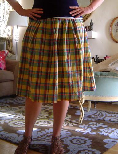 Madras skirt