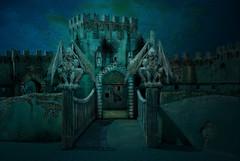 The Sentinels (lunamom58) Tags: castle photoshop digitalart gargoyle creativecommons