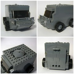 ATT (Jackbrick101) Tags: new b black brick water modern soldier grey buffalo war arms lego transport tire battle land ba forge bf troop warfare bley brickarms brickforge