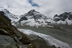 Pointes de Mourti and Glacier de Moiry Photo