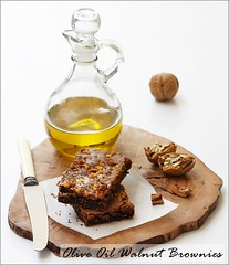 Olive Oil Walnut Brownies (Passionate About Baking) Tags: dessert healthy sweet chocolate oliveoil cocoa brownies borges