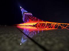 Reflected (Aaron Webb) Tags: reflection japan tokyo 日本 tokyotower 東京 東京タワー tokyojapan japanday2