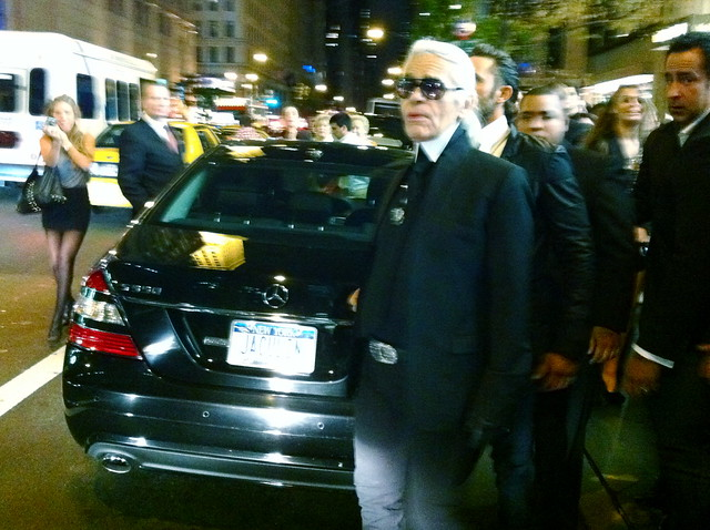 karl lagerfeld just in front of me