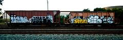 Wyse (TheHarshTruthOfTheCameraEye) Tags: train graffiti san francisco d30 freight wyse benching