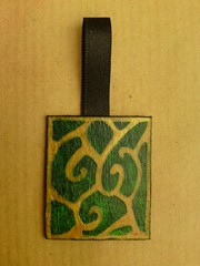 Green & gold pendant
