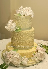 Peony wedding cake! (Dot Klerck....) Tags: flowers peony dot weddings chocolateganache cupcakesbydesign