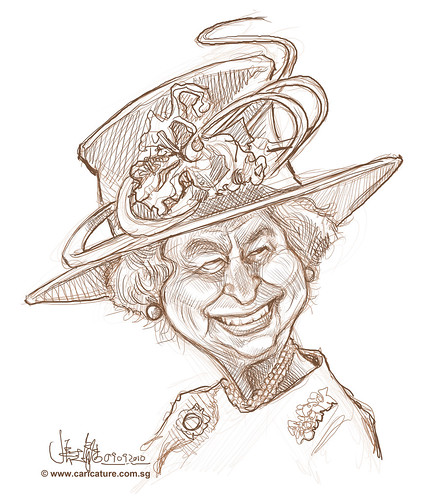 digital sketch of Queen Elizabeth II -2