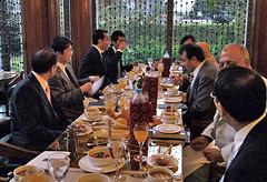 イフタールとしてメナハウス・オベロイにて日本文化日本語関係者と懇談