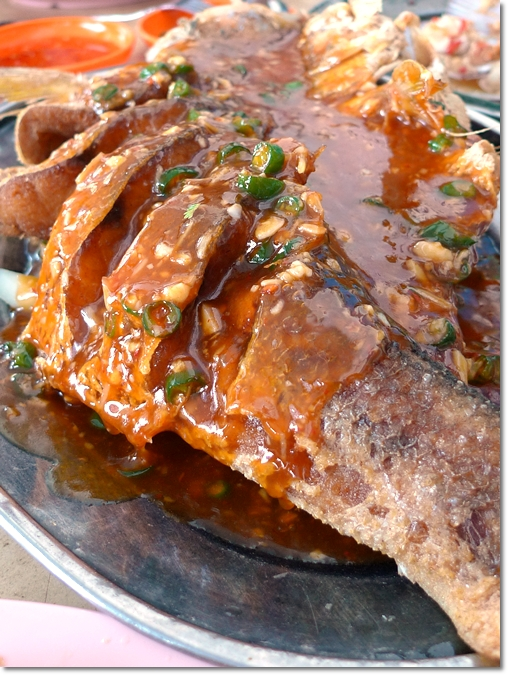 Fried Ma Yau Fish in 3 Taste Gravy