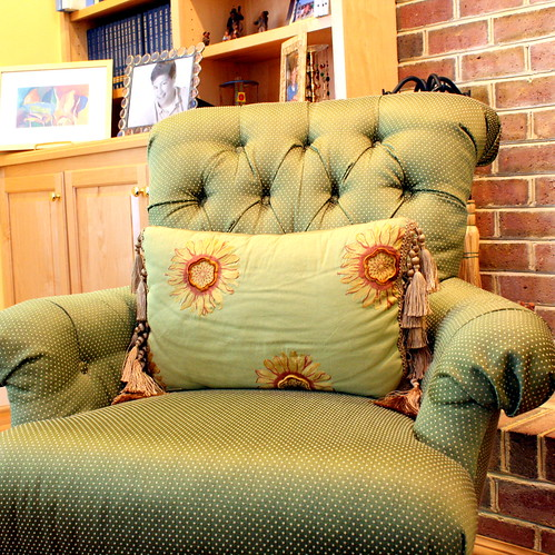 chic green pillow
