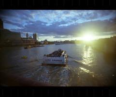 (Sia A) Tags: cruise sunset thames river boat flare londonist kodakultramax vivitarultrawideandslim effrafc thamesfestival2010