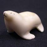 """<b>Seal</b><br/> Unknown, Eskimo American (ivory, ca. 1975) LFAC#2008:01:20<a href=""""http://farm5.static.flickr.com/4150/4996993226_e345513ec4_o.jpg"""" title=""""High res"""">∝</a>"""