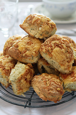 cooling rack of scones