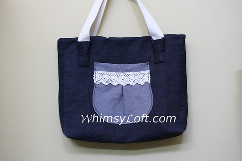 Denim Laptop Tote