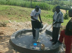 Eshikhoni Primary School-chlorination of rehabilitated well.