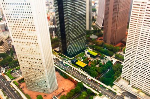 Shinjuku Tilt shift