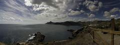 Bahía de Portman (Cani Mancebo) Tags: blue sea panorama azul clouds canon mar mediterranean tokina murcia nubes mediterráneo portman bahía panorámica 1116 400d launión comunidadmurciana canoneos400ddigital sierraminera 1116mm bahíadeportman canimancebo tokina1116f28dxatxpro